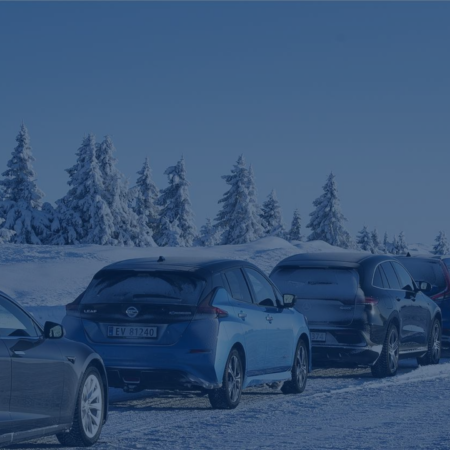winter weather electric car